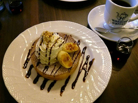 141424星乃珈琲のチョコバナナパンケーキ!