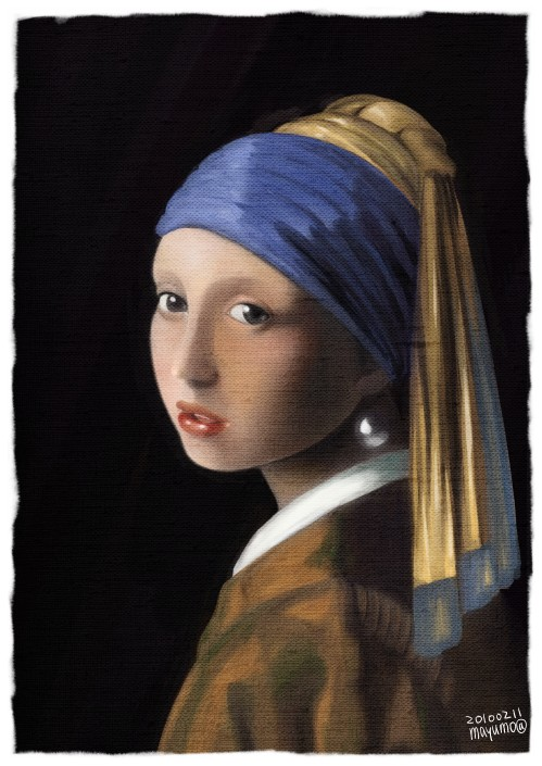 100211spi:「真珠の耳飾りの少女」をもしゃ模写