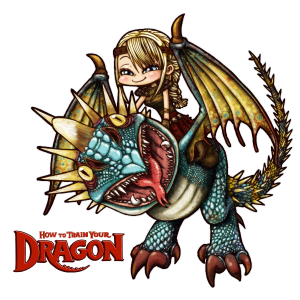 How to train Dragon : Astrid&Deadly Nadder