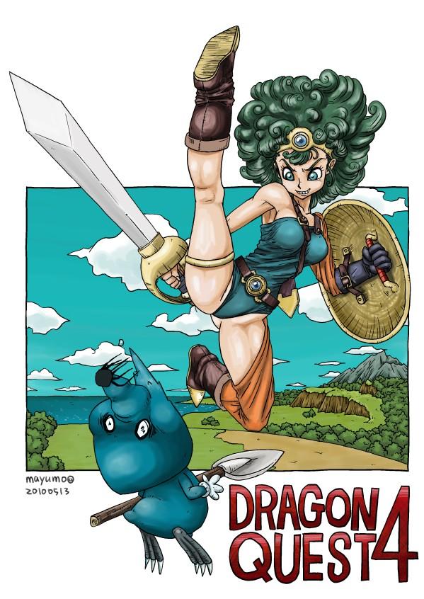 ドラクエ4の女勇者を描いてみた:100511game_dq4