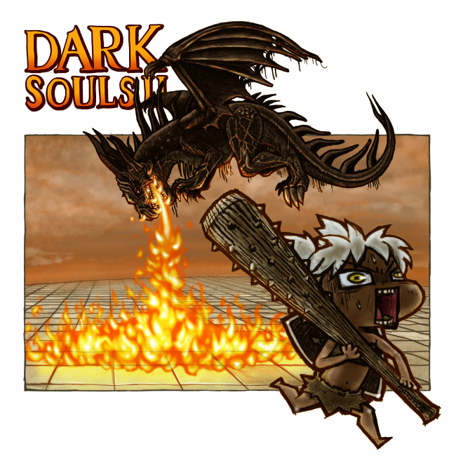 ダークソウル2:自キャラと古の竜