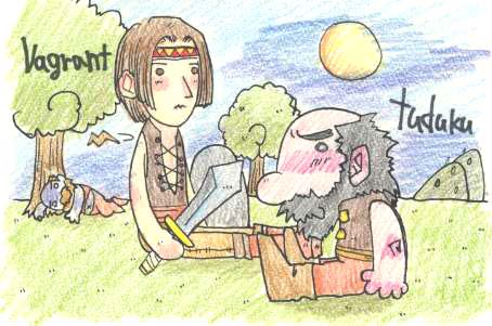game:EverQuestのバグラント君とtuduku君のHP回復風景
