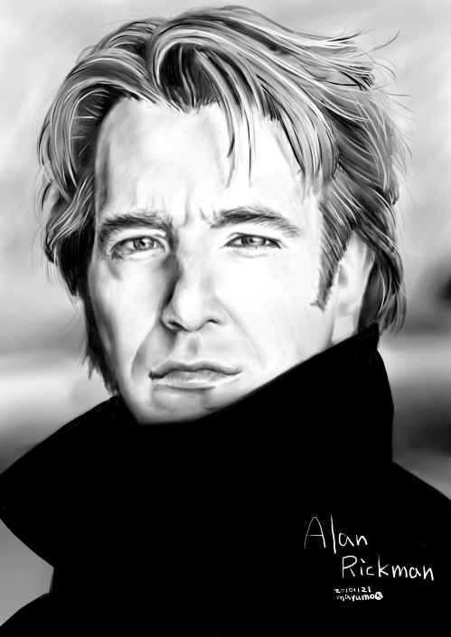Alan Rickman を描いてみた